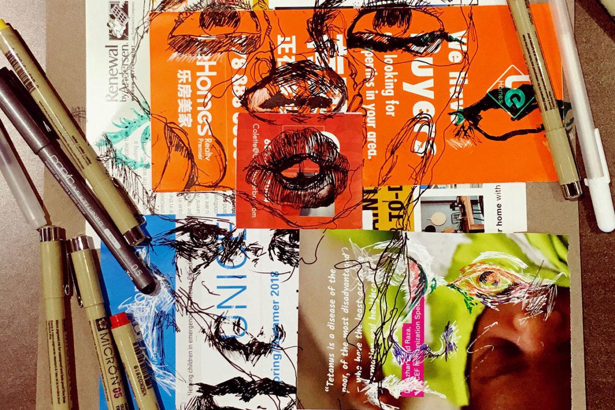 Junk Mail Art, Jacey Chen