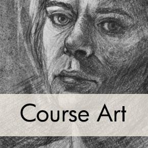 Charcoal Self-Portrait, Nikoletta T