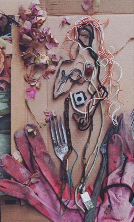 Mixed Media Collage, Brigid McCann