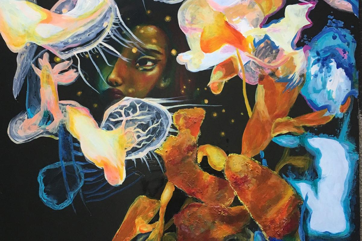 Acrylic & Resin Painting, Elena Quintana