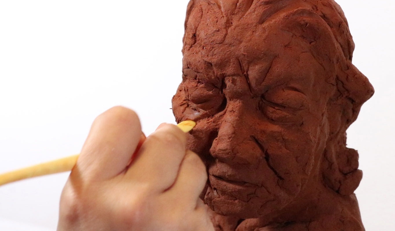 Clay Portrait Sculpture