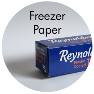 Art Supplies: Freezer Paper