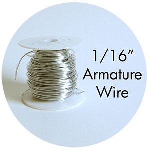 "Art Supplies: 1/16"" thick armature wire"