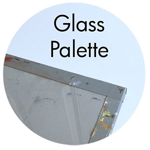 Art Supplies: Glass painting palette