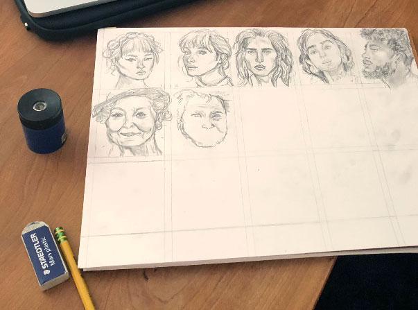 Anatomy Drawing Marathon: Pencil Drawings