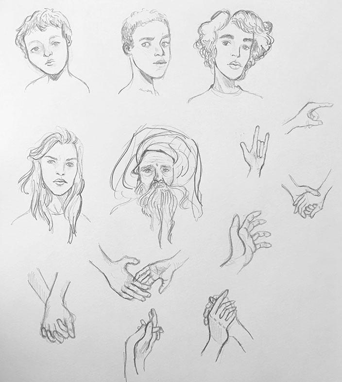 Anatomy Drawing Marathon, Alexia Towle
