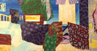 Painted Paper Collage, Ro Antia