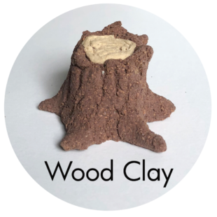 Clay House Art: Wood Clay