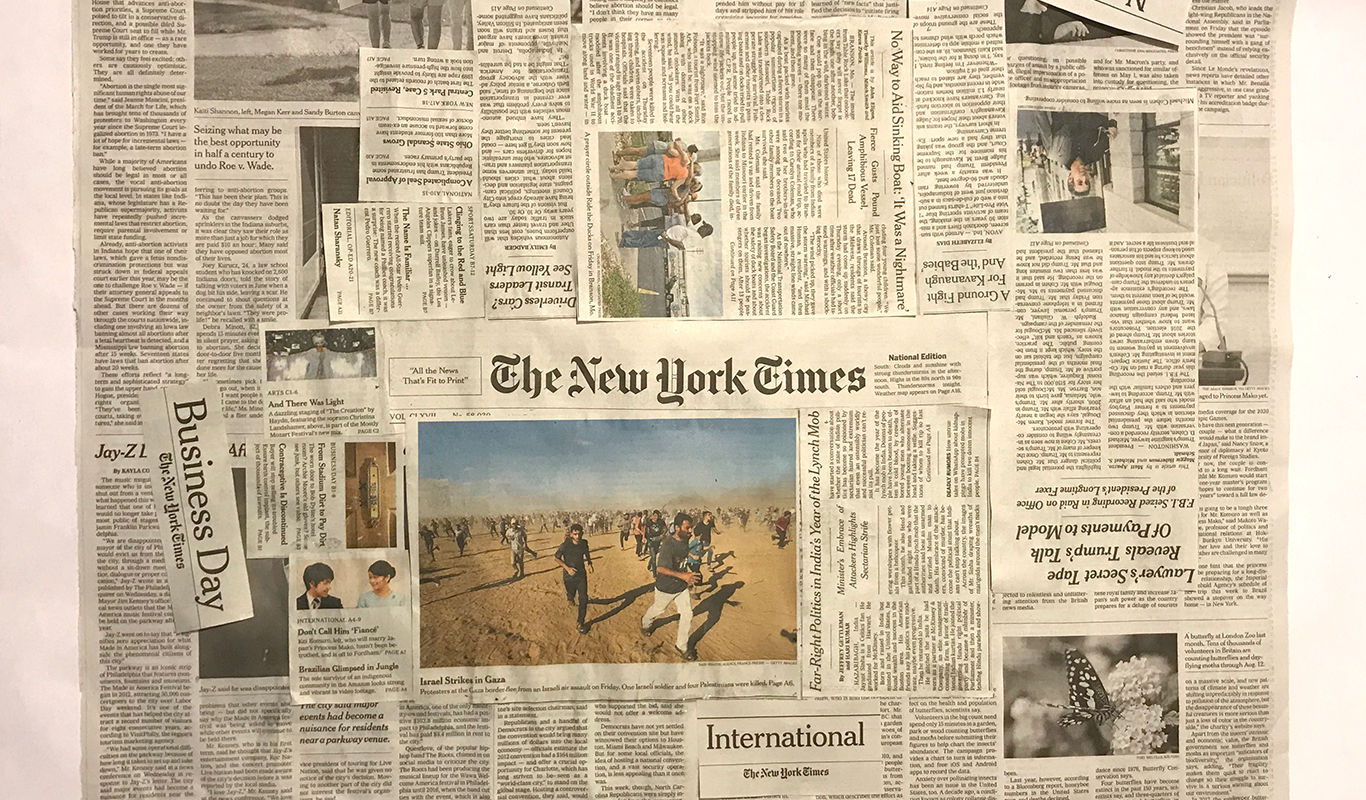 New York Times Collage, Ro Antia