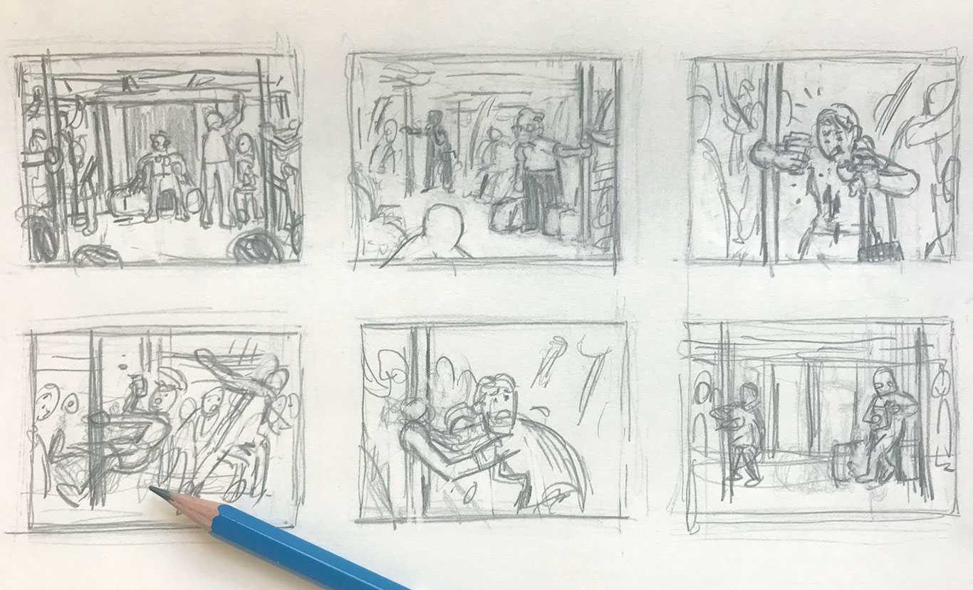 Thumbnail Sketches, Editorial Spot Illustration, Casey Roonan