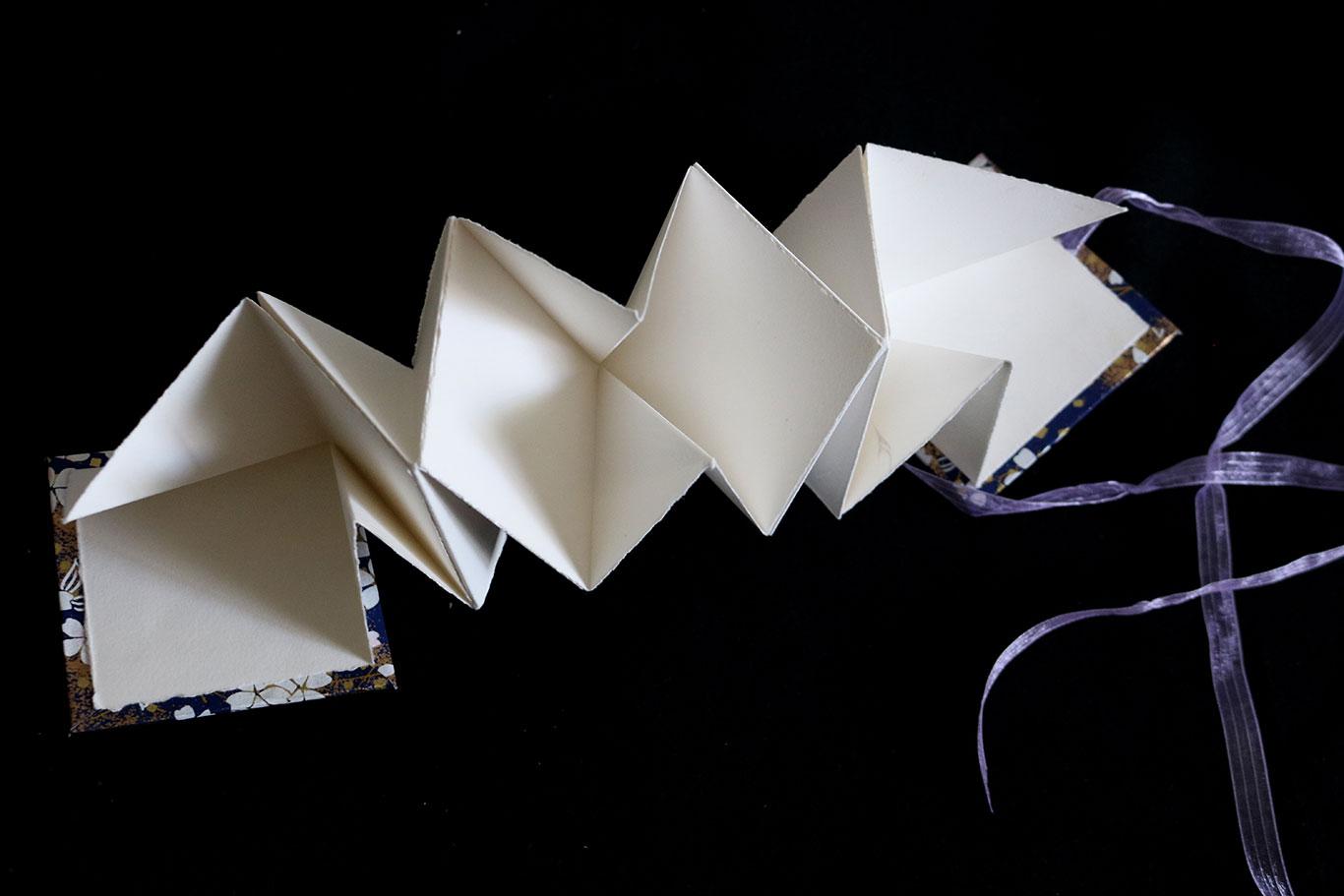 Handmade Artist Book, Lotus Book Fold