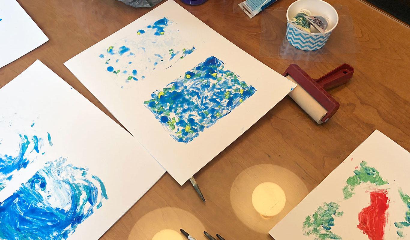Gel Printing Plate Print, Stephanie Gibadlo