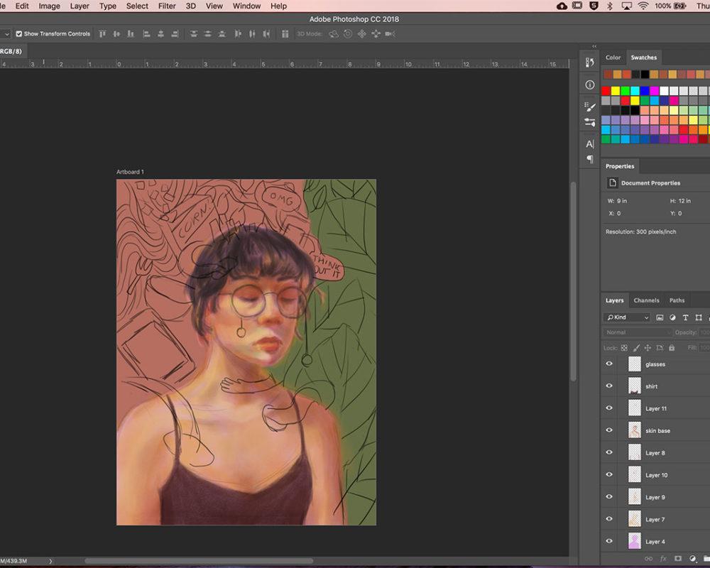 Digital Illustration, Julie Sharpe