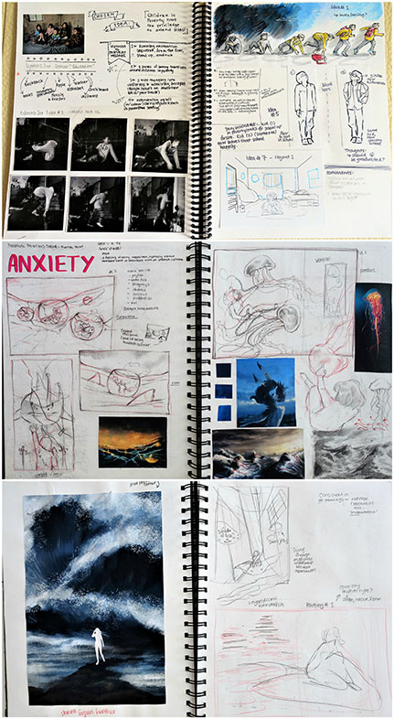 Sketchbook Pages, Victoria Lin