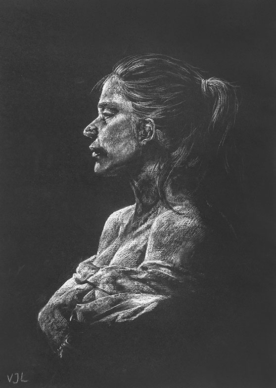Charcoal Drawing, Victoria Lin