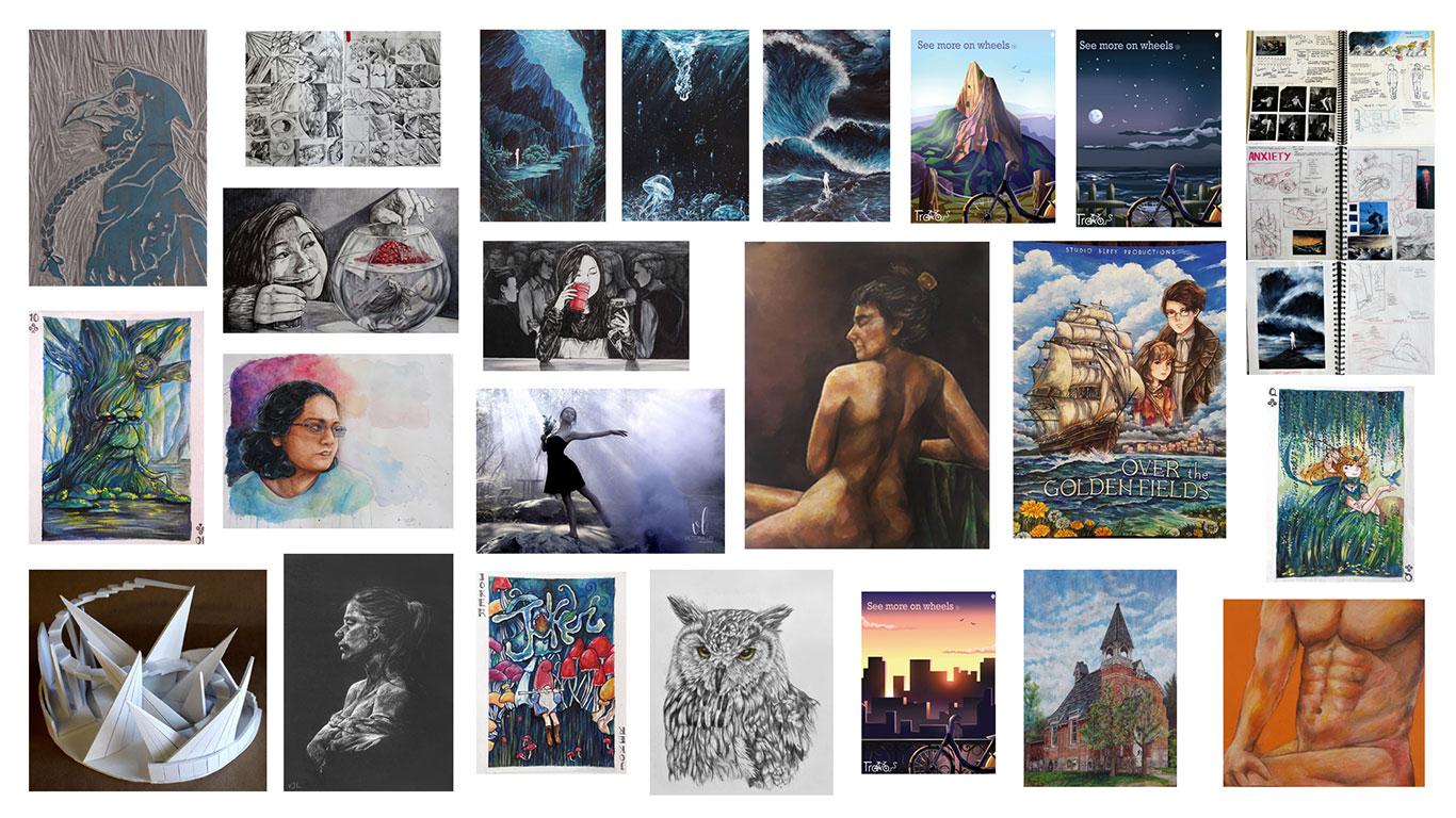 Art School Admissions Portfolio, Victoria Lin
