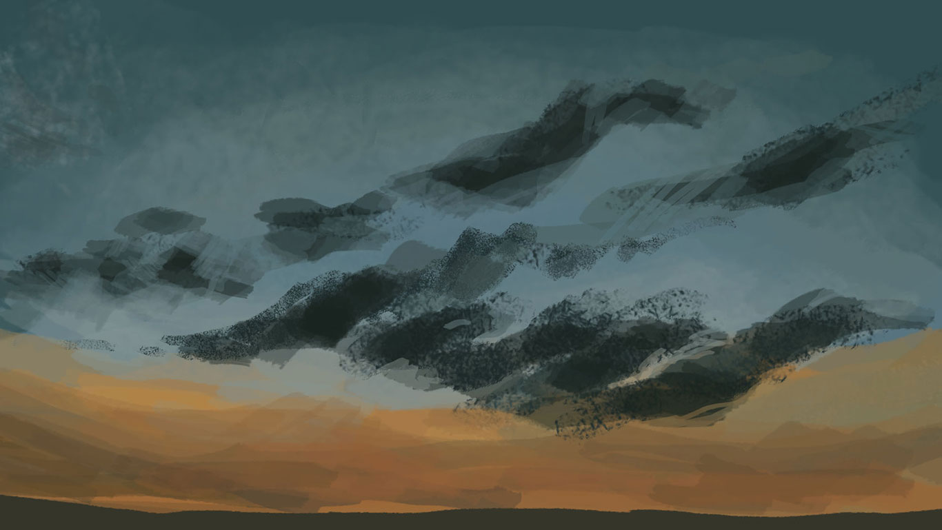Digital Sky Painting, Amelia Rozear