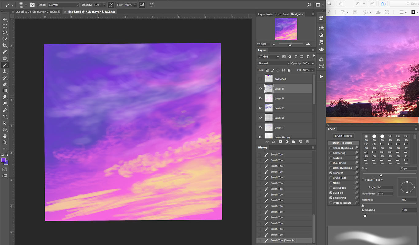 Digital Sky Painting Process, Ro Antia