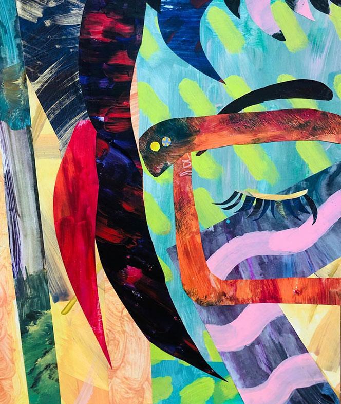 Self-Portrait Collage, Whitehorse Academy of Art & Design