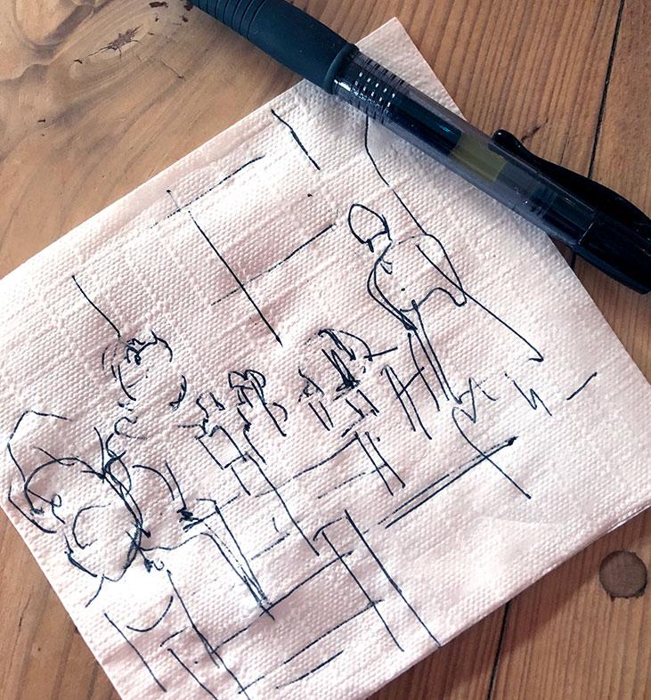 Napkin Drawing