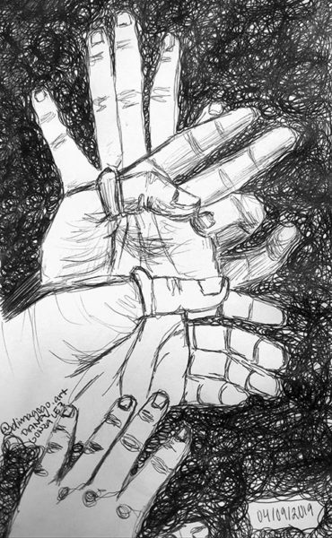 Hands Drawing, Diana Gonzalez