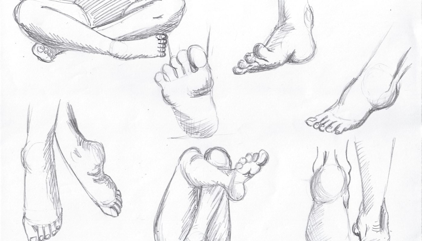 Foot Drawings, Stephanie Dioquino