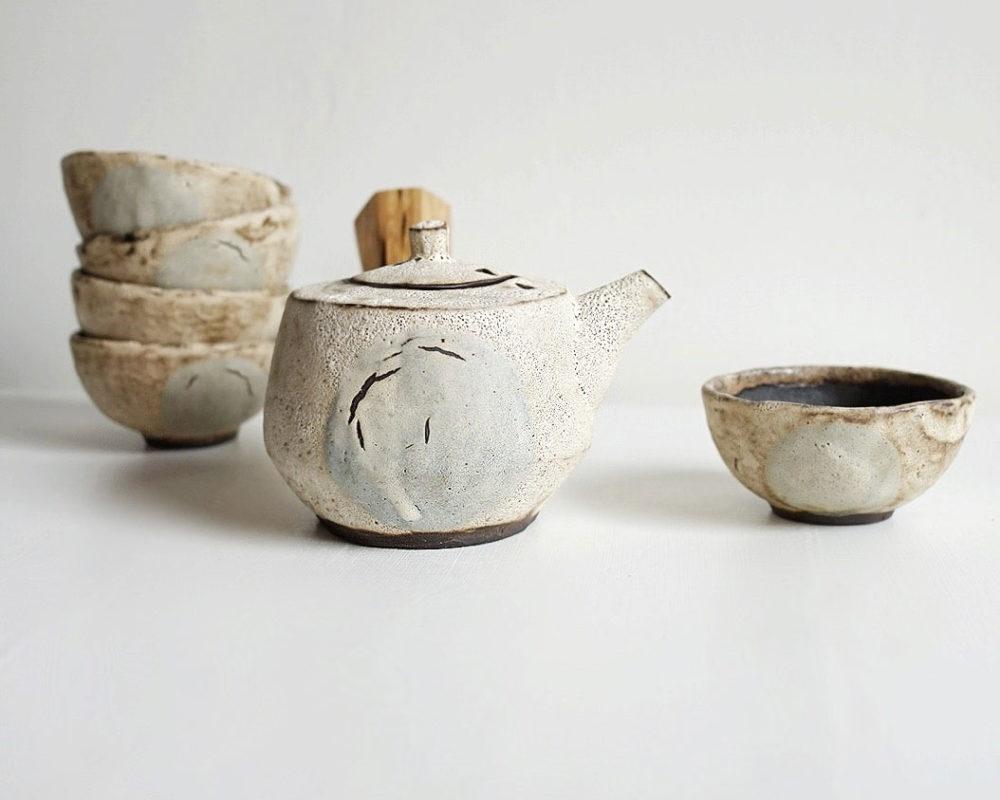 Sage Moon Tea Pot, Ayame Ceramics