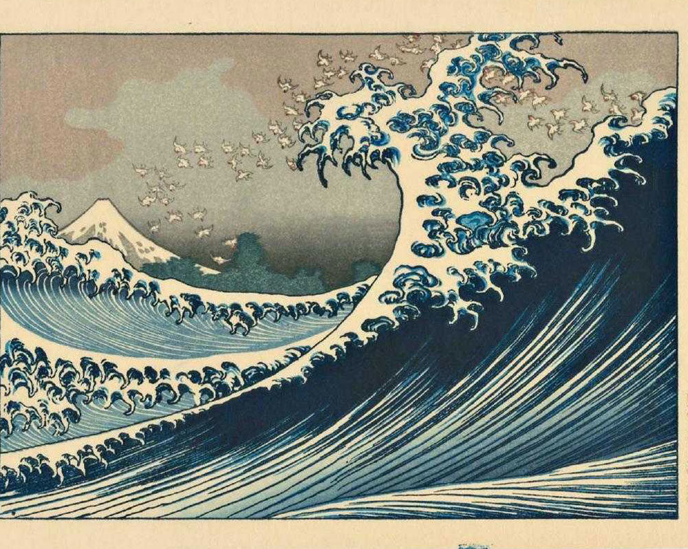 Katsushika Hokusai, Mt. Fuji From the Sea Woodblock, 19th century
