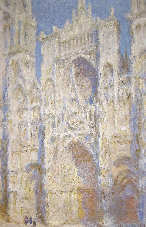 Claude Monet, Rouen Cathedral West Facade Sunlight, 1894