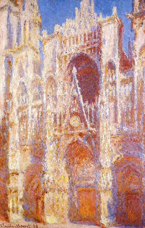 Claude Monet, Rouen Cathedral The Portal in the Sun,1894