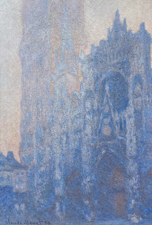 Claude Monet, Rouen Cathedral Façade and Tour d'Albane (Morning-Effect), 1894