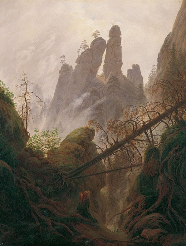 Caspar David Friedrich, Rocky ravine in the Elbe Sandstone Mountains,1822