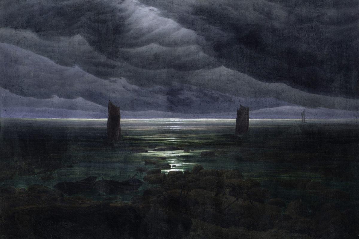 Caspar David Friedrich, Sea Shore in Moonlight, 1835