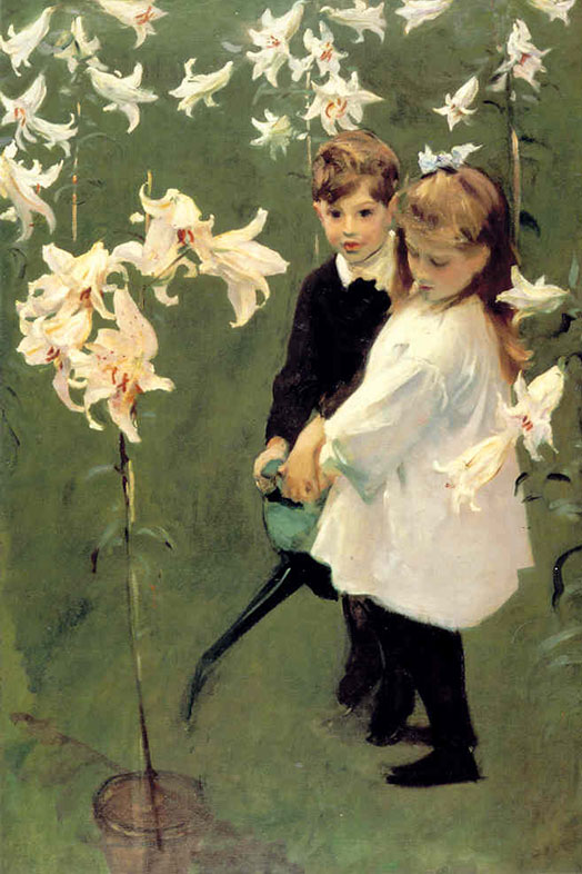 John Singer Sargent, Garden Study of the Vickers Children, 1884