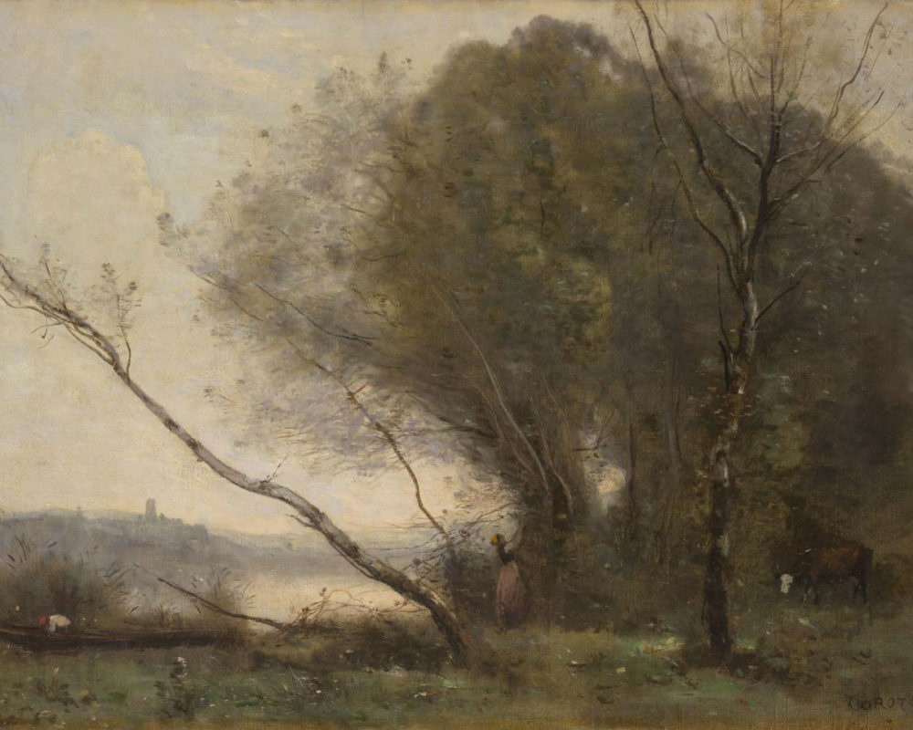 Jean-Baptiste-Camille Corot, The Bent Tree, 1855