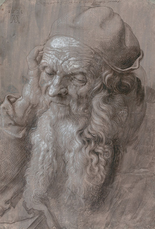 Albrecht Dürer, Head of Old Man, 1521