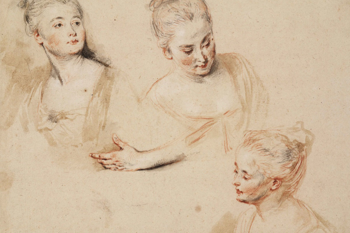 Jean-Antoine Watteau, Portrait Drawings, 18th century