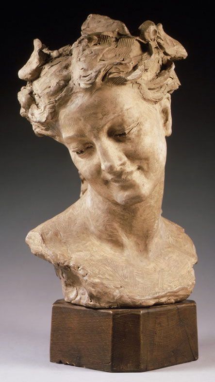 Jean-Baptiste Carpeaux, Bacchante with lowered eyes, 1872