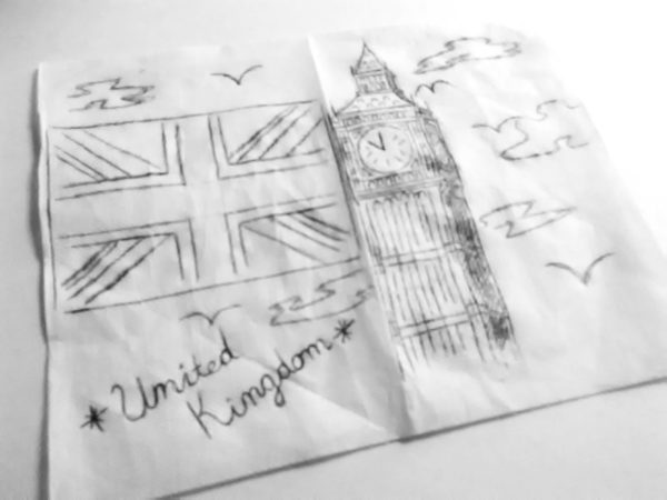 Napkin Drawing, Tarquarrius Jones