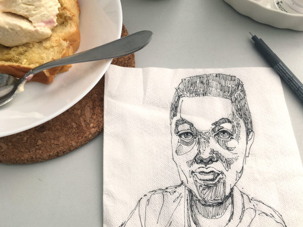 Napkin Drawing, Anonymous