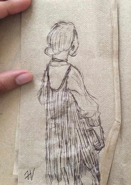 Napkin Drawing, Faba