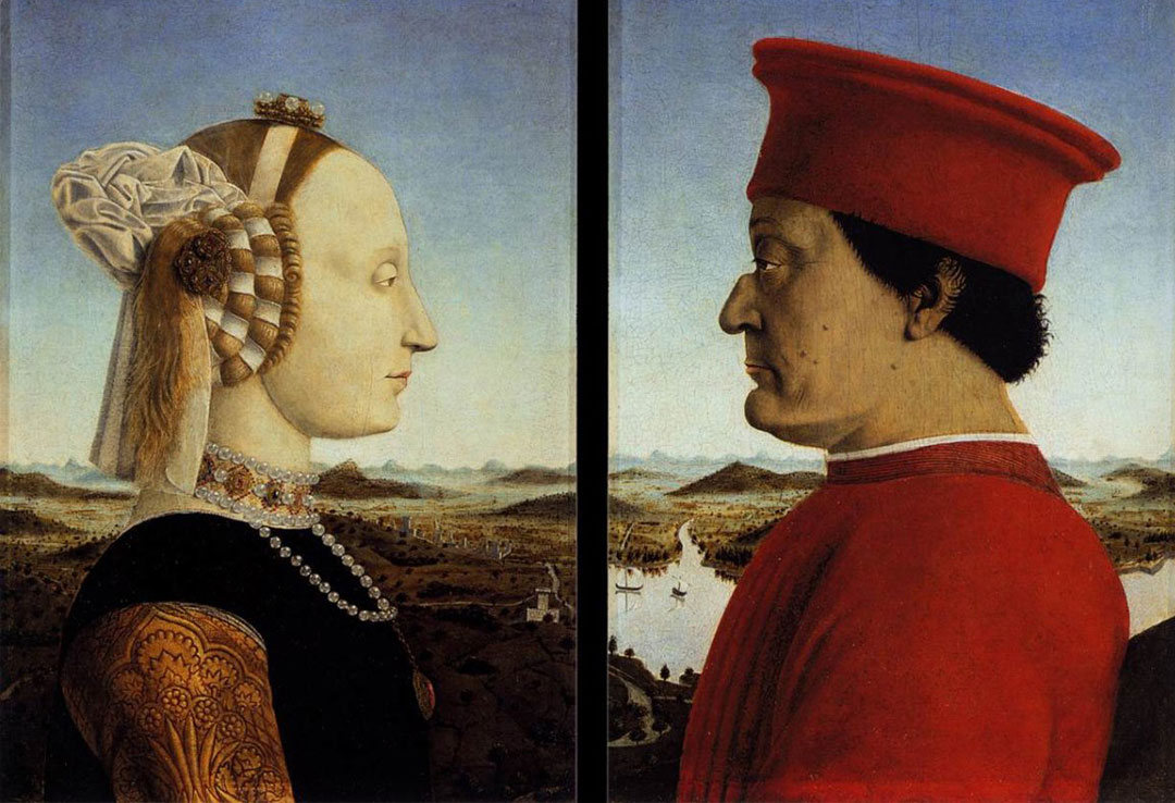 Piero Della Francesca, The Duke and Duchess of Urbino, 1467