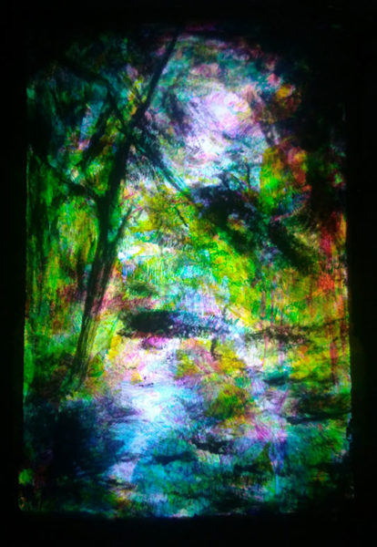 Acrylic on Glass Painting, J Jarvis