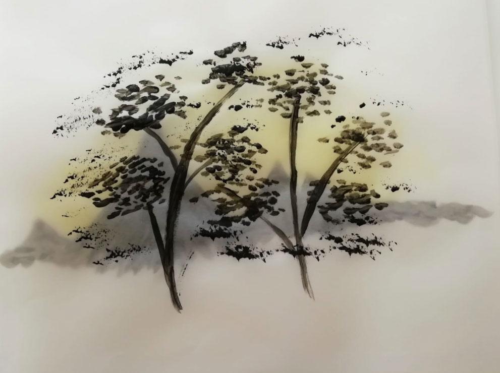 Acrylic Painting on Tracing Paper, Artbojana