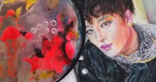Mixed Media Portrait Drawing, Darinka Arones