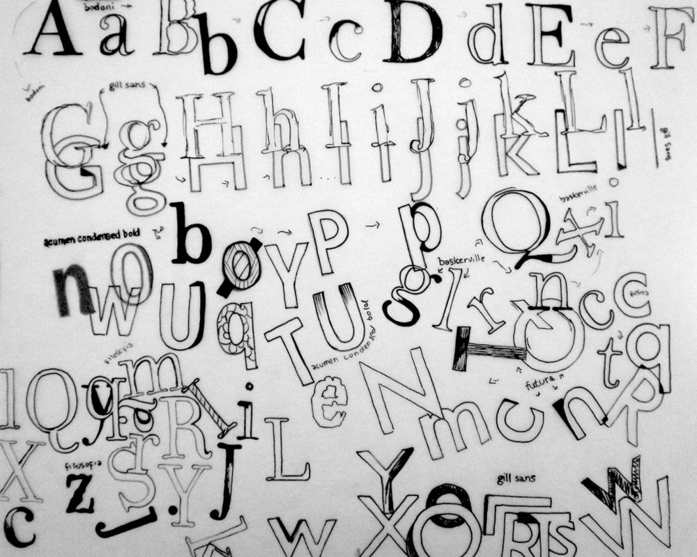 Typography Composition, Darinka Arones