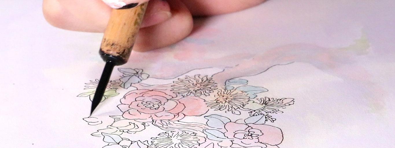 Pen & Ink and Marker Drawing, Song Kang