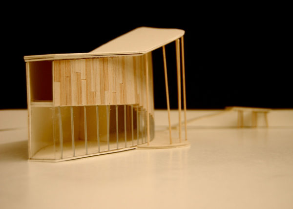 Architectural Model, photographed by a student