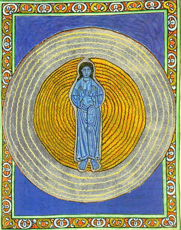 Hildegard of Bingen, The Trinity in the Unity Manuscript, Illumination from Scivias