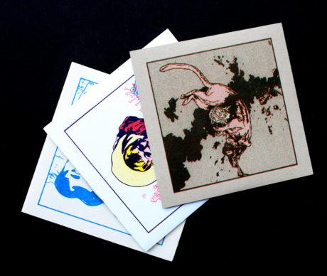 Mix CD Risograph Prints, Casey Roonan